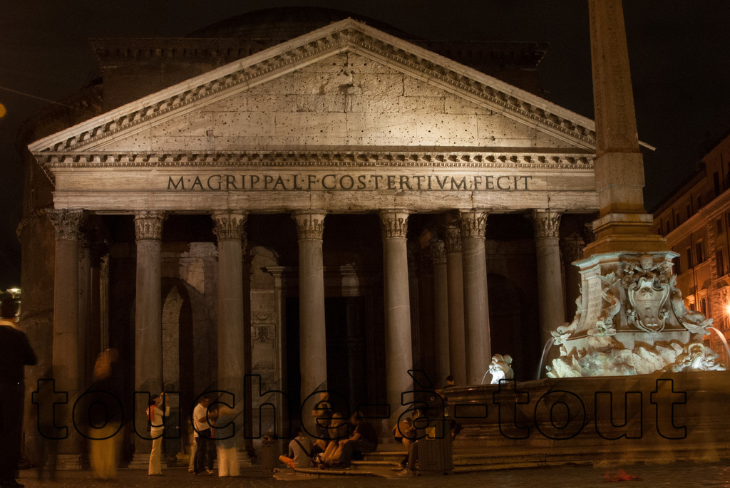 The Pantheon, Rome<br /> The Pantheon at night