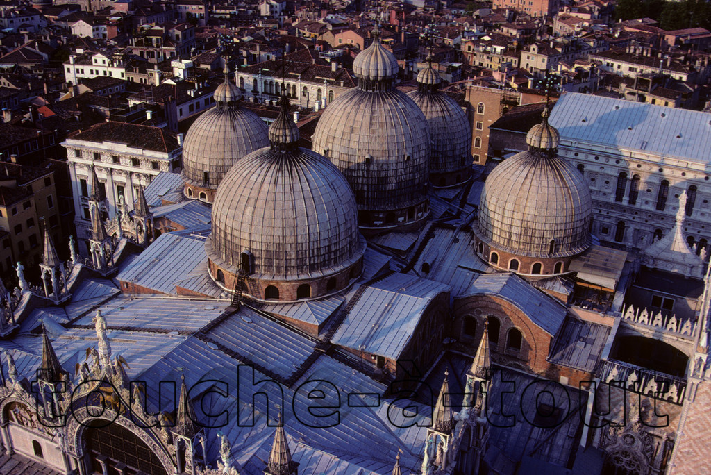St. Mark's Basilica, Venice<br /> View of St. Mark's Basilica from the Campanile, Venice