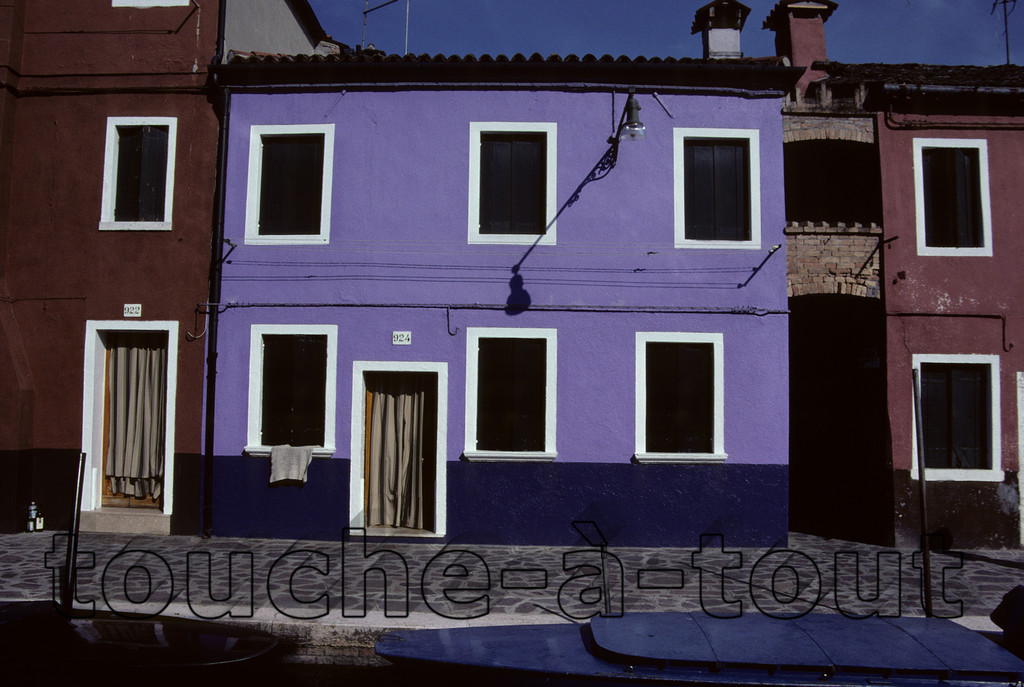 The houses of Burano, Venice
