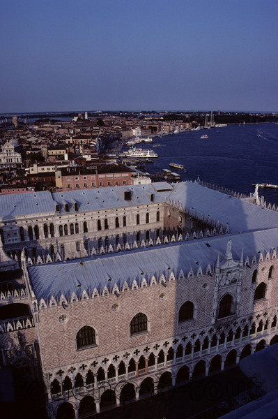 Overlooking the Doge's palace from St. Mark's Campanile