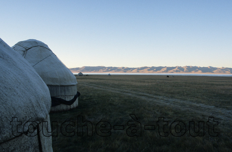 Sunrise by Son Kul, Kyrgyzstan