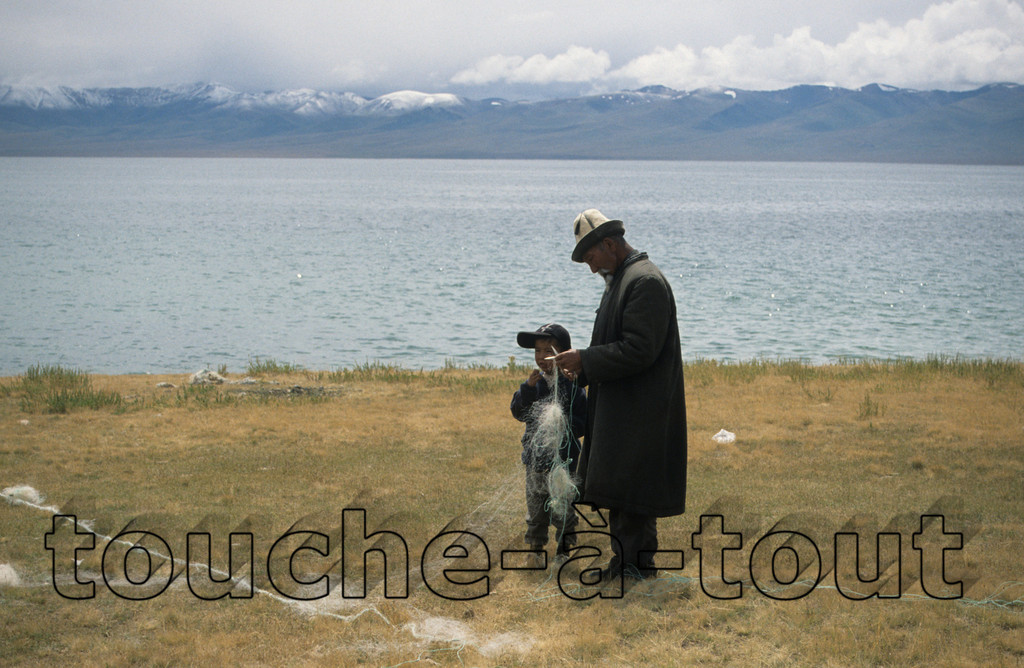 Fishing nets by Son Kul, Kyrgyzstan