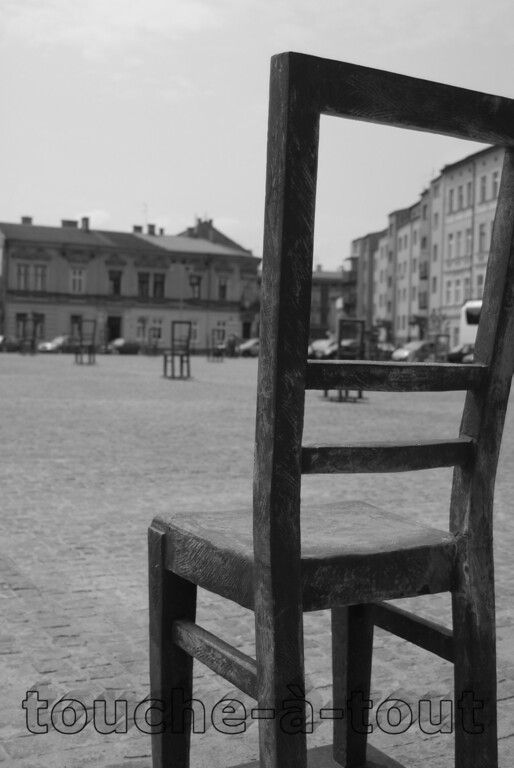 Main square in Ghetto area in Krakow, Poland (N.B. available in colour)