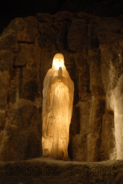 Statue of the Virgin Mary from the walls of the cathedral at Wieliczka Salt Mine, Poland