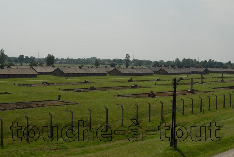 Prison huts at Auschwitz-Birkenau death camp, Poland