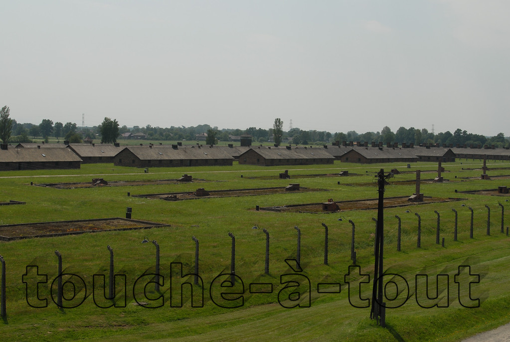 Prison huts at Auschwitz-Birkenau death camp, Poland