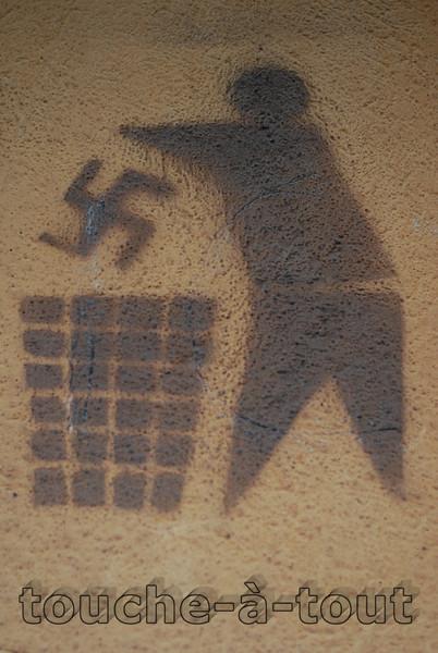 Anti-Nazi stencil