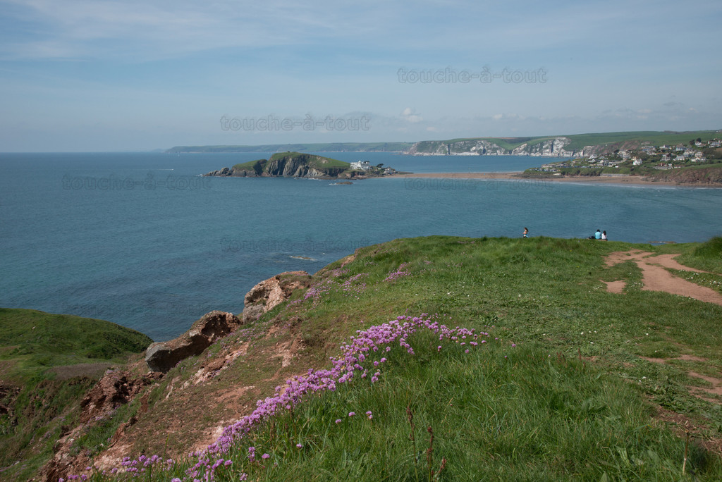 Burgh Island from above Bantham beach
