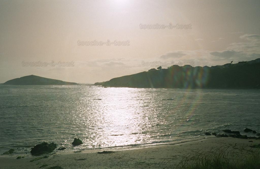 Burgh Island, Devon<br /> Looking towards Burgh Island from Bantham beach