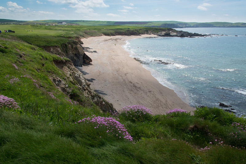 Beach below Thurlestone golf course
