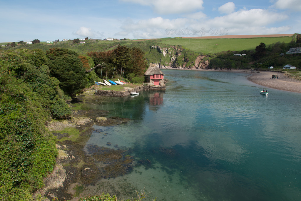 Boathouse on the river Avon, near Bantham