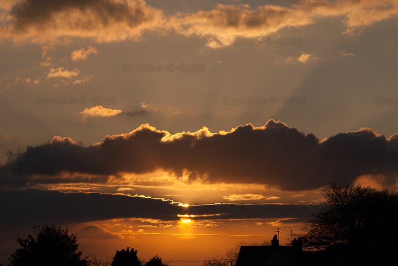 Sunset over Shiptonthorpe, East Riding of Yorkshire