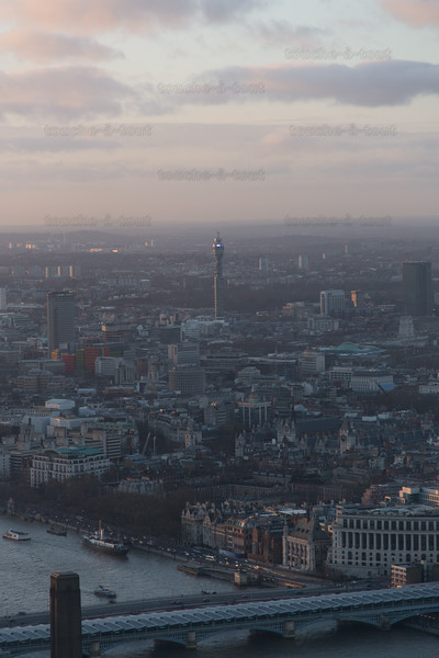The BT Tower from the Shard
