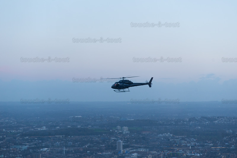 Helicopter over London from the Shard