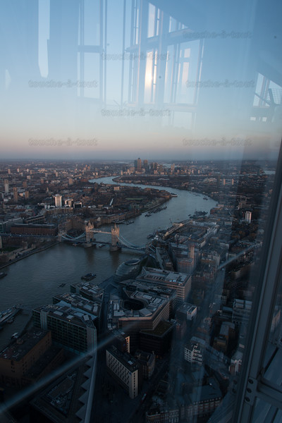 East London from the Shard