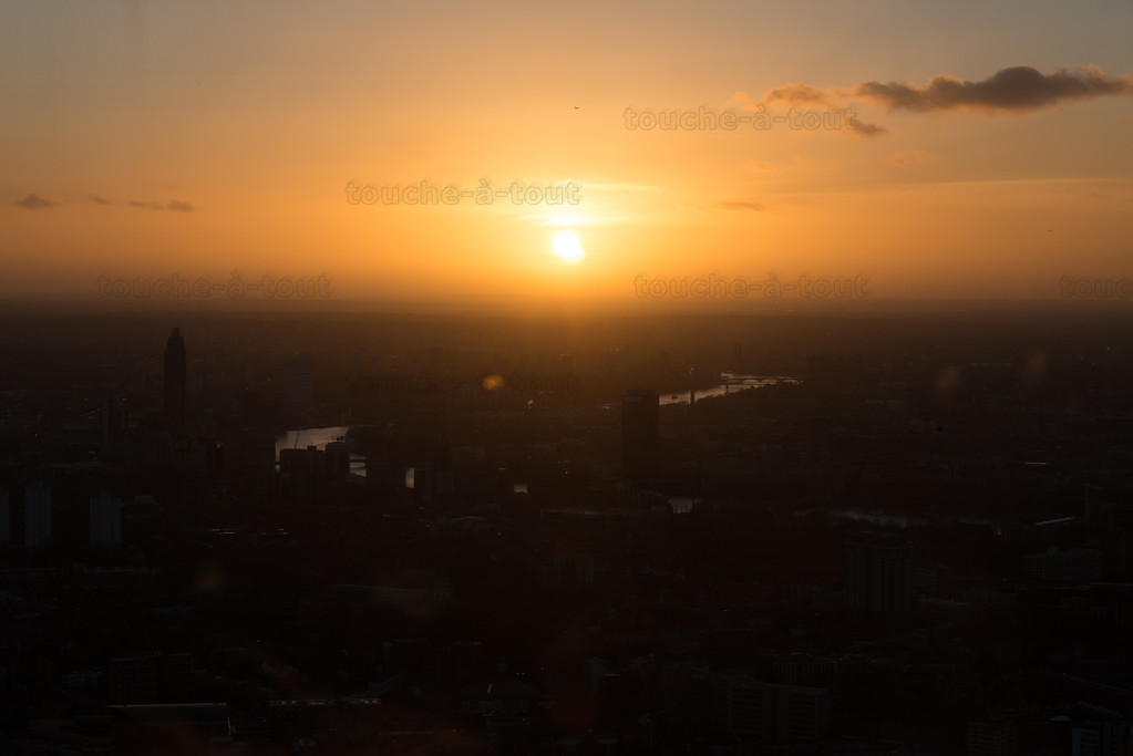 Sunset over West London from the Shard