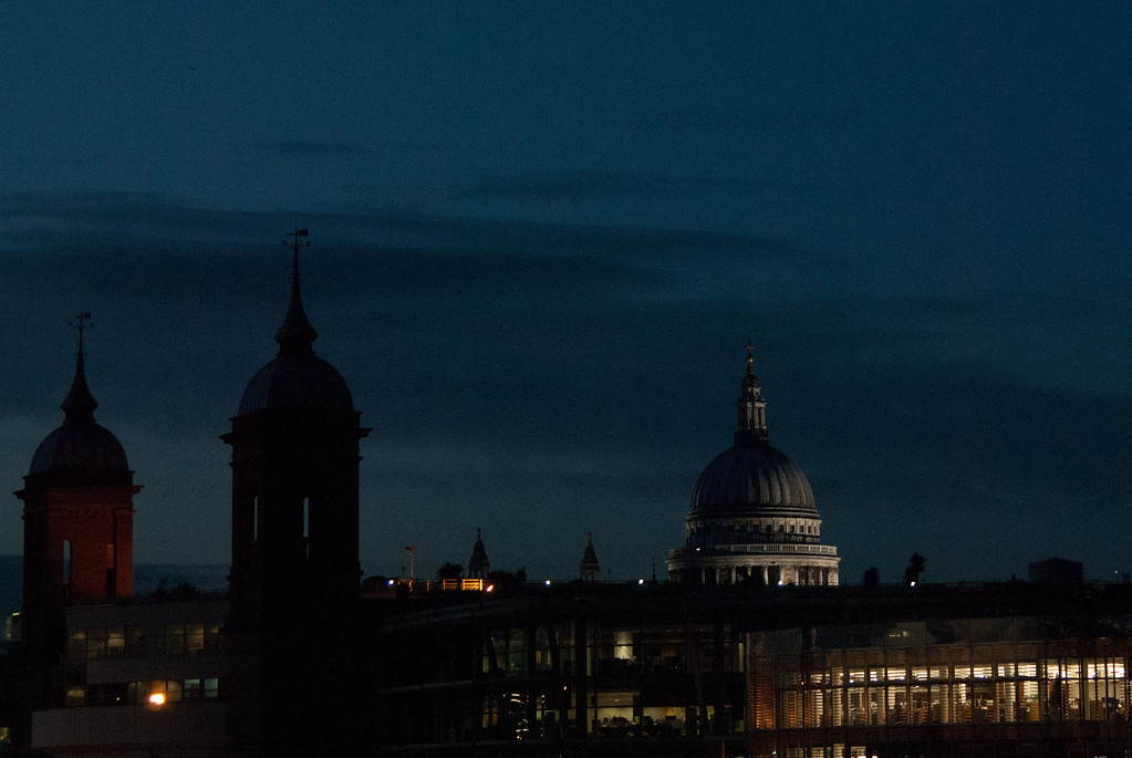 St. Paul's dome at dusk