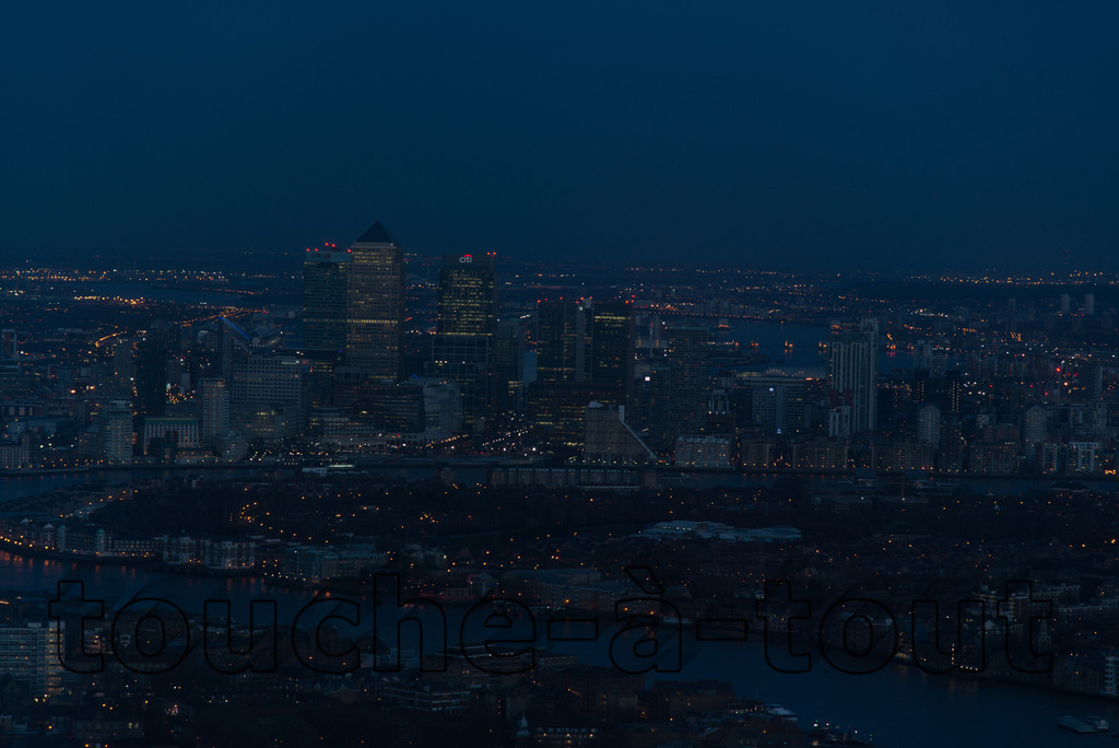 Canary Wharf from the Shard
