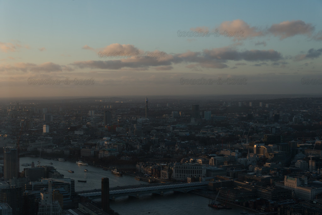 Towards the BT Tower from the Shard