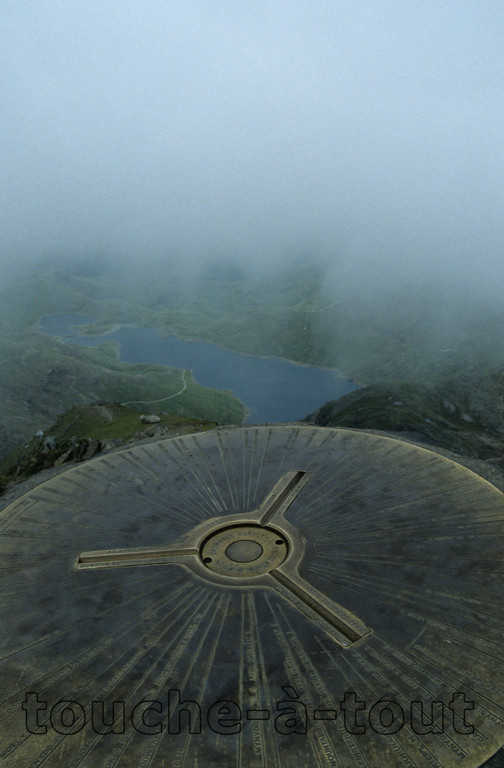 The top of Snowdon, Wales