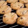 coolling racks with freshly baked cookies