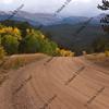 mountain road in Colorado, autumn scenery