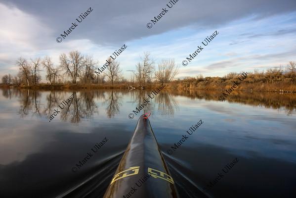 bow of a racing kayak