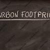 carbon footprint title on a blackboard