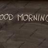 good morning on a school blackboard