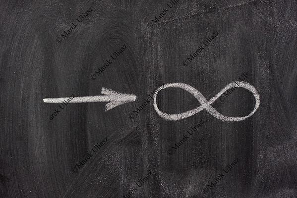 approaching infinity on a blackboard