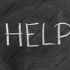 help word on a school blackboard