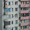skyscraper apartment house in Warsaw, Poland