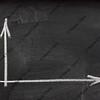 blank graph (coordinate axes) on blackboard
