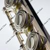 silver concert flute detail