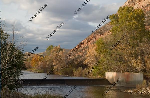 diversion dam on a mountain river