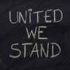 united we stand phrase on blackboard