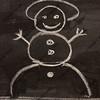 snowman on blackboard