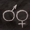 male and female gender symbols  on blackboard
