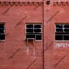 broken windows of abandoned factory