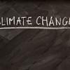 climate change title on blackboard