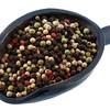 scoop of colorful rainbow peppercorns