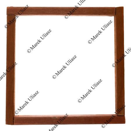 primitive, square wooden frame