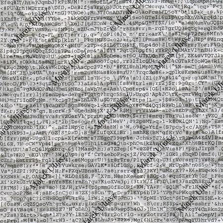 computer gibberish printout on crumpled paper