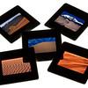 sand dunes - color slides on a lightbox