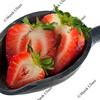 scoop of sliced strawberries
