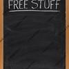 free stuff text on blackboard