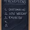 quit smoking, exercise, loose weight