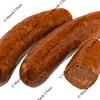 chorizo sausage on white