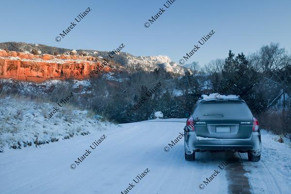 winter driving in Colorado