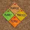 Purpose, People, Planet, Principles maxim